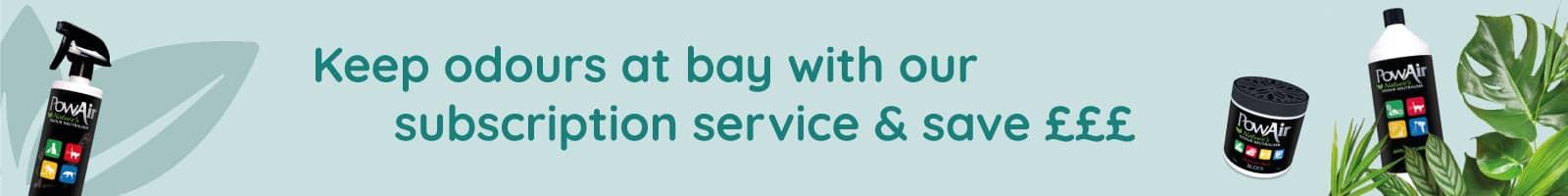 PowAir Subscription save money banner